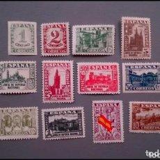 Sellos: V- ESPAÑA -1937-ESTADO ESPAÑOL- EDIFIL 802/813- SERIE COMPLETA- MNH** -NUEVOS- LUJO - VALOR 460€. Lote 204538201