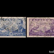 Sellos: ESPAÑA - 1941-47 - EDIFIL 944 S Y 947 S - SIN DENTAR - MUY RAROS Y ESCASOS.. Lote 204672788