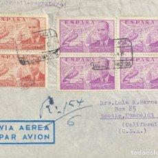 Sellos: CARTA CIRCULADA DE BARCELONA A CALIFORNIA AÑO 1948. Lote 204751012