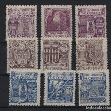 Sellos: R75/ ESPAÑA 1944, EDIFIL 974/82 MNH**, MILENARIO DE CASTILLA. Lote 204790652