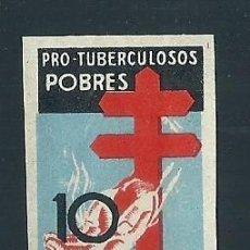 Selos: A5-8 ESPAÑA PRO TUBERCULOSOS AÑO 1937 EDIFIL Nº 840 VARIEDAD SIN DENTAR SIN FIJASELLOS. Lote 204990836