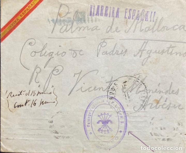 ESPAÑA: CARTA CIRCULADA AÑO 1937 (Sellos - España - Estado Español - De 1.936 a 1.949 - Cartas)