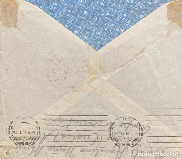 Sellos: ESPAÑA: CARTA CIRCULADA AÑO 1937 - Foto 2 - 205100017