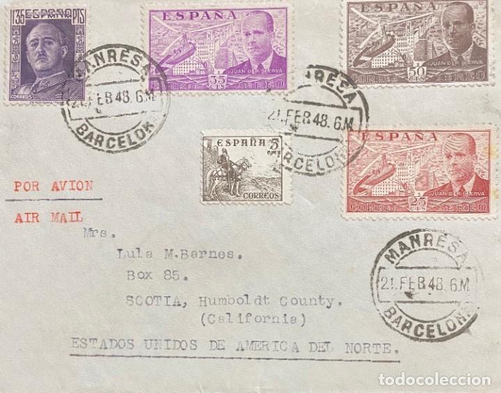 ESTADO ESPAÑOL: CARTA CIRCULADA AÑO 1948 (Sellos - España - Estado Español - De 1.936 a 1.949 - Cartas)