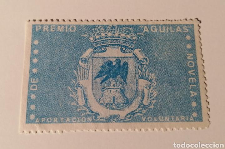 ÁGUILAS. MURCIA. PREMIO ÁGUILAS DE NOVELA. VIÑETA APORTACION VOLUNTARIA (Sellos - España - Estado Español - De 1.936 a 1.949 - Usados)