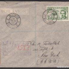 Sellos: CARTA, MADRID - NUEVA YORK, MATASELLOS ESPECIAL DE MADRID. DÍA DEL SELLO, CONDE DE SAN LUIS,. Lote 205295708