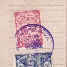Sellos: *** PARTIDA DE DEFUNCIÓN 1946 ALMAGRO CON FISCALES + VIUDAS Y HUERFANOS + PÓLIZA DE URGENCIA ***. Lote 205577380