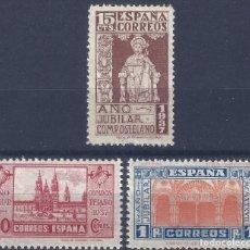 Sellos: EDIFIL 833-835 AÑO JUBILAR COMPOSTELANO 1937 (SERIE COMPLETA). VALOR CATÁLOGO: 162 €. MNH **. Lote 205868085