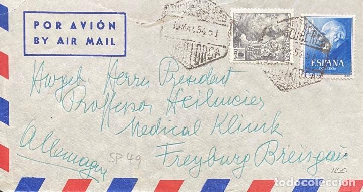 ESTADO ESPAÑOL CARTA AÑO 1954 (Sellos - España - Estado Español - De 1.936 a 1.949 - Cartas)