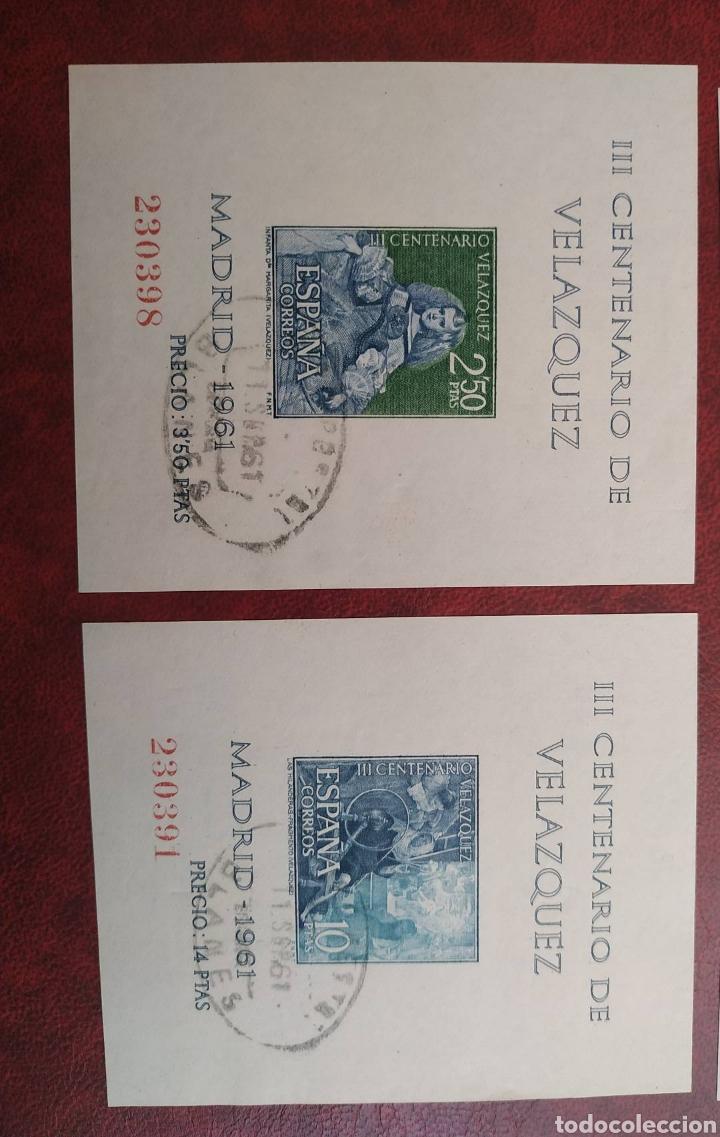 Sellos: Hojas Velázquez 1344/47 año 1961 circuladas - Foto 2 - 206249968