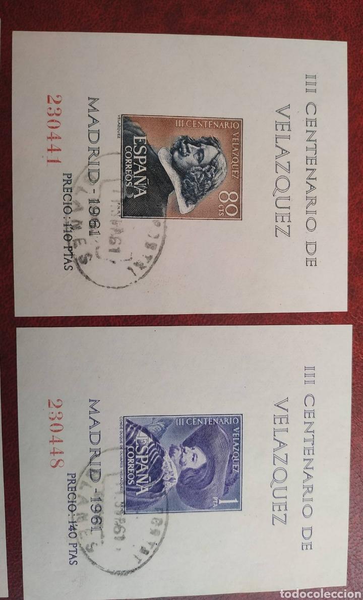 Sellos: Hojas Velázquez 1344/47 año 1961 circuladas - Foto 3 - 206249968