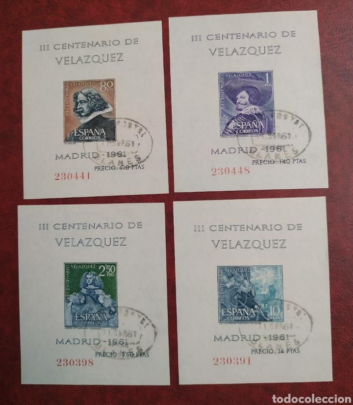 HOJAS VELÁZQUEZ 1344/47 AÑO 1961 CIRCULADAS (Sellos - España - Estado Español - De 1.936 a 1.949 - Usados)