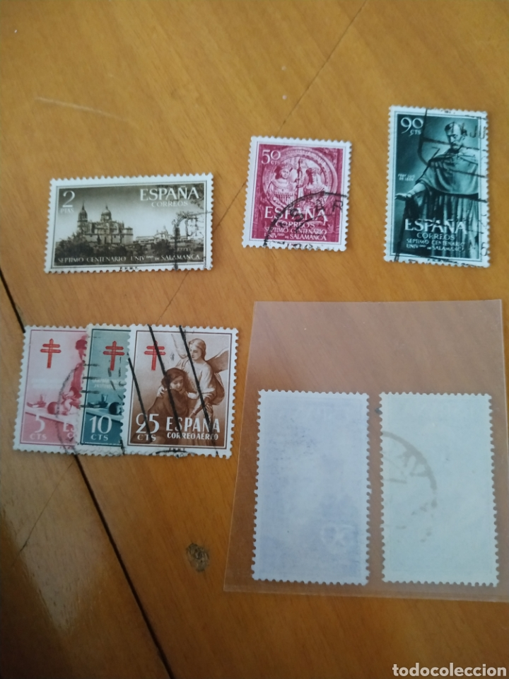 Sellos: España sellos 1121-1128 usados año1953 - Foto 2 - 206267623
