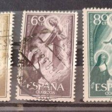 Sellos: ESPAÑA SELLOS 1206-1208 AÑO 1957. Lote 206269082