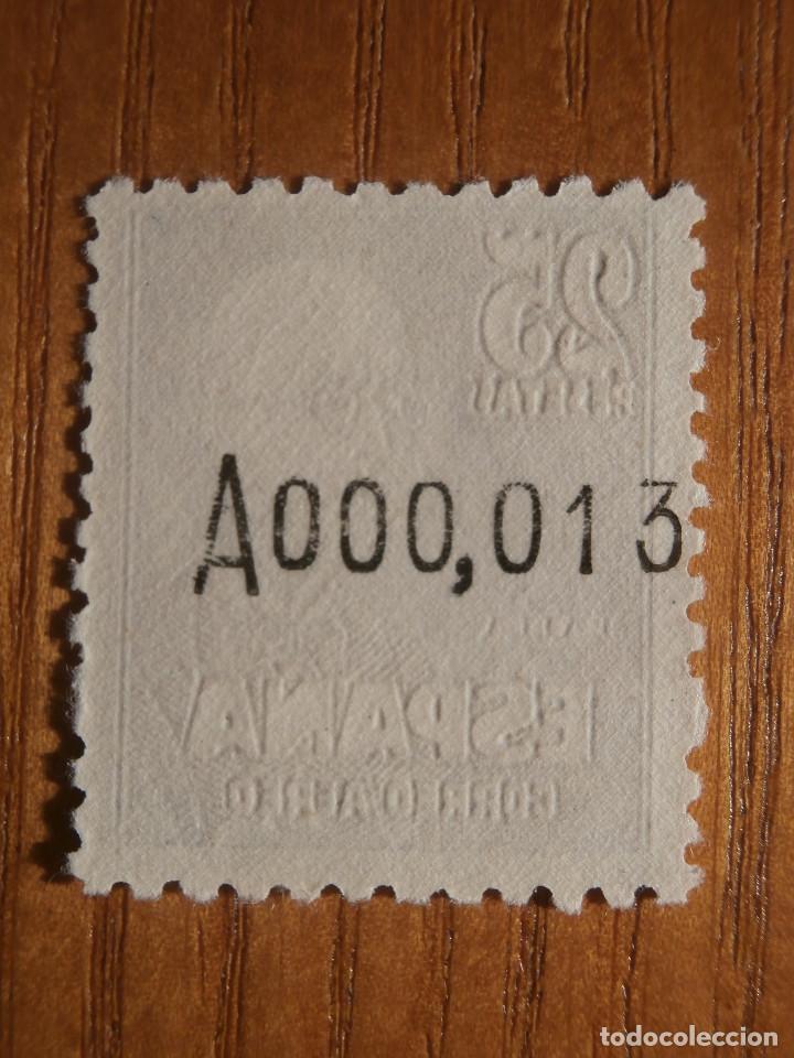 Sellos: Sello correos - Año 1947 Edifil Nº 1015 - 25 Pesetas Castaño-lila - Manuel de Falla - NUEVO CON GOMA - Foto 2 - 206521202