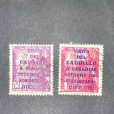 Selos: EDIFIL 1088/1089. ESPAÑA. VISITA DEL CAUDILLO DON FRANCISCO A CANARIAS. USADOS. VER. Lote 206774976