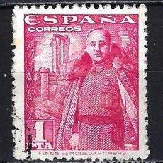 Francobolli: 1948-1954 ESPAÑA EDIFIL 1032 FRANCO Y CASTILLO DE LA MOTA USADO. Lote 206811046