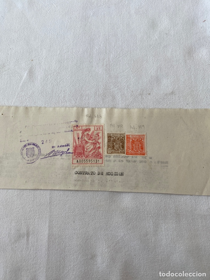 PÓLIZA FISCAL SOBRE DOCUMENTO 1941/59 (Sellos - España - Estado Español - De 1.936 a 1.949 - Usados)