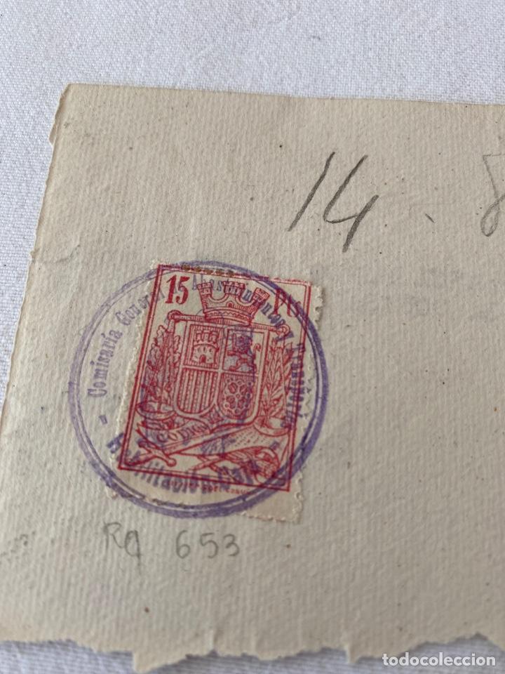 Sellos: Sello fiscal referencia 653 por 15 pesetas de 1936 - Foto 2 - 206973508