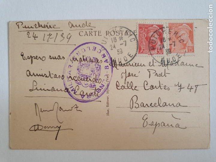 BARCELONA - CENSURA MILITAR - PUICHÉRIC / BARCELONA 1939 (Sellos - España - Estado Español - De 1.936 a 1.949 - Cartas)