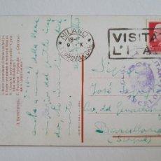 Sellos: CENSURA MILITAR - MILANO ITALIA / BARCELONA. Lote 207007151