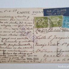 Sellos: CENSURA MILITAR - FRANCIA CAEN / BARCELONA. Lote 207008118