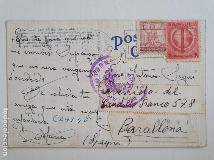 CENSURA MILITAR - CUBA / BARCELONA (Sellos - España - Estado Español - De 1.936 a 1.949 - Cartas)