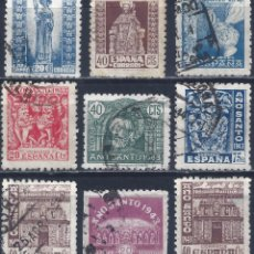 Sellos: EDIFIL 961-969 AÑO SANTO COMPOSTELANO 1943 (SERIE COMPLETA). VALOR CATÁLOGO: 67 €. LUJO.. Lote 207285387