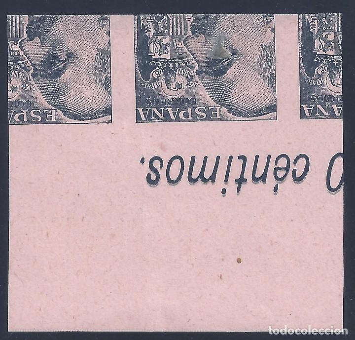Sellos: EDIFIL 927 GENERAL FRANCO 1940-1945 (VARIEDAD..PRUEBA DE IMPRESIÓN ANVERSO Y REVERSO). LUJO. MNG. - Foto 2 - 208431108