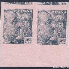 Sellos: EDIFIL 927 GENERAL FRANCO 1940-1945 (VARIEDAD..PRUEBA DE IMPRESIÓN ANVERSO Y REVERSO). LUJO. MNG.. Lote 208431108