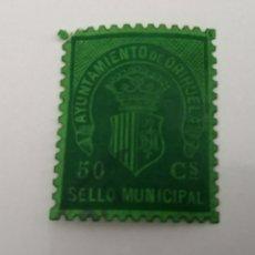 Sellos: ORIHUELA. ALICANTE. SELLO MUNICIPAL 50 CENTIMOS. Lote 209740286