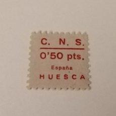 Sellos: HUESCA. CNS. 50 CÉNTIMOS. Lote 209747810