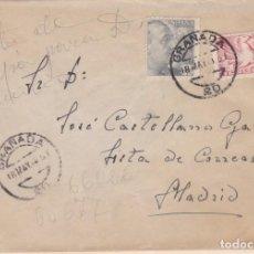 Sellos: ESPAÑA.- CARTA DE GRANADA A MADRD, FRANQUEO URGENTE Y AL DORSO AMBULANTE.. Lote 210198082