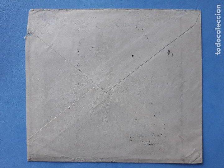 Sellos: Sobre Circulado. 2 de Octubre de 1944. Certificado Santiago de Compostela. - Foto 2 - 210596701