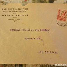 Sellos: CENSURA MILITAR BÉJAR (SALAMANCA ) AÑO 193 SOBRE COMERCIAL HIDRO ELECTRICA PUERTENSE, PUERTO DE BEJA. Lote 210603456