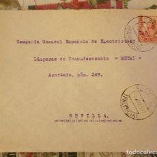 Sellos: 1937, , ASTUDILLO , PALENCIA, SOBRE COMERCIAL CIRCULADO, LA AURORA. Lote 210604847