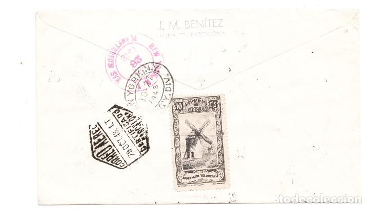 Sellos: SOBRE BARCELONA A NEW YORK 1948 LLEGADA - Foto 2 - 210646435