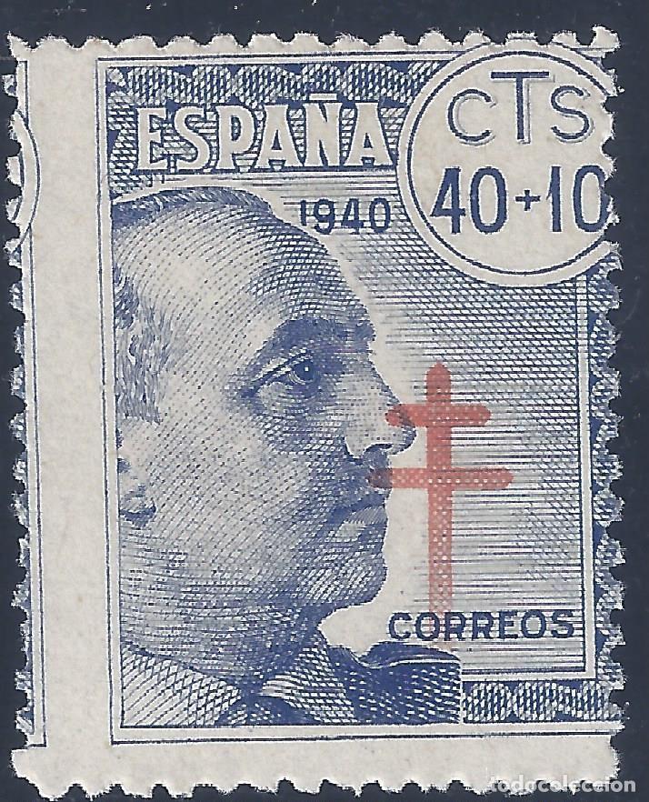 EDIFIL 938 PRO TUBERCULOSOS 1940 (VARIEDAD...CRUZ DESPLAZADA A LA IZQUIERDA). LUJO. MNH ** (Sellos - España - Estado Español - De 1.936 a 1.949 - Nuevos)