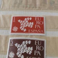 Sellos: ESPAÑA (1961) SERIES NUEVAS SIN SELLO BISAGRAS DE MENTA NUNCA CON BISAGRAS ESPAÑA-SCOT 1371/72 EUROP. Lote 210957022