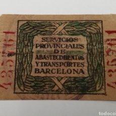 Sellos: BARCELONA. SERVICIOS PROVINCIALES ABASTECIMIENTO. TASA. Lote 211448735