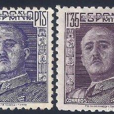 Sellos: EDIFIL 1001 GENERAL FRANCO 1946 (VARIEDAD...COLOR. DENTADO 10 DE LÍNEA). MH *. Lote 211456344