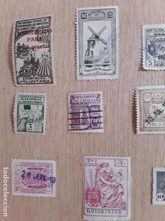 Sellos: Lote sellos viñetas postal antiguos - Foto 2 - 211673870