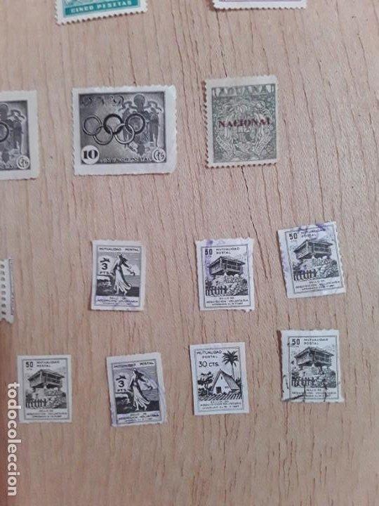 Sellos: Lote sellos viñetas postal antiguos - Foto 3 - 211673870