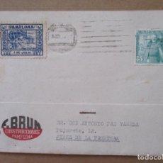 Francobolli: CIRCULADA 1950 DE PAMPLONA A JEREZ DE LA FRONTERA CON SELLO SAN FERMINES. Lote 213545635