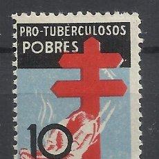 Sellos: PRO TUBERCULOSOS 1937 EDIFIL 840 NUEVO** VALOR 2018 CATALOGO 33.- EUROS. Lote 213565671