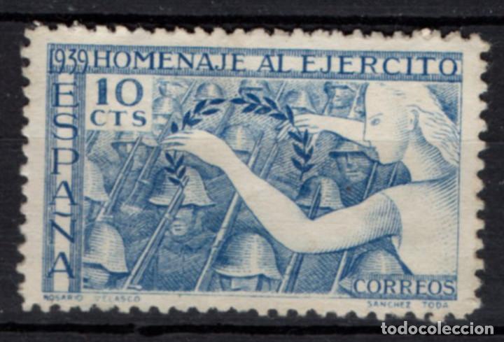ESPAÑA 887* - AÑO 1939 - HOMENAJE AL EJERCITO (Sellos - España - Estado Español - De 1.936 a 1.949 - Nuevos)