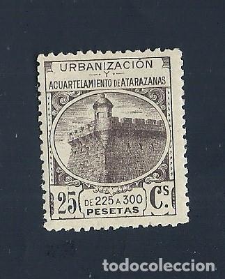 0040 FISCAL URBANIZACION Y ACUARTELAMIENTO DE ATARAZANAS VALOR 20 CTS COLOR NEGRO (Sellos - España - Estado Español - De 1.936 a 1.949 - Nuevos)