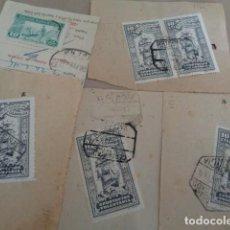 Sellos: RESGUARDOS IMPOSICIÓN. CERTIFICADOS. LOTE 5 RECIBOS TODOS CON TIMBRE MUTUALIDAD CORREOS.. Lote 215775498
