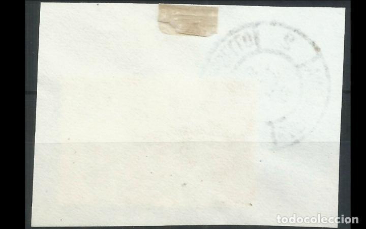 Sellos: ESPAÑA - 1945 - ESTADO ESPAÑOL - EDIFIL 990 - SOBRE FRAGMENTO - MATASELLOS PRIMER DIA DE CIRCULACION - Foto 2 - 215914100