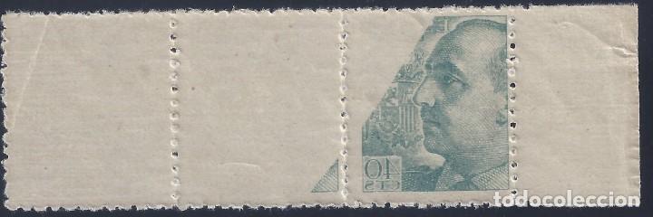 Sellos: EDIFIL 925 GENERAL FRANCO 1940-1945 (VARIEDAD..CALCADO PARCIAL AL REVERSO). LUJO. MNH ** - Foto 2 - 217147602